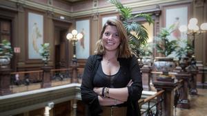 Alexandra Colominas, este miércoles, en el Col.legi de l'Advocacia de Barcelona.