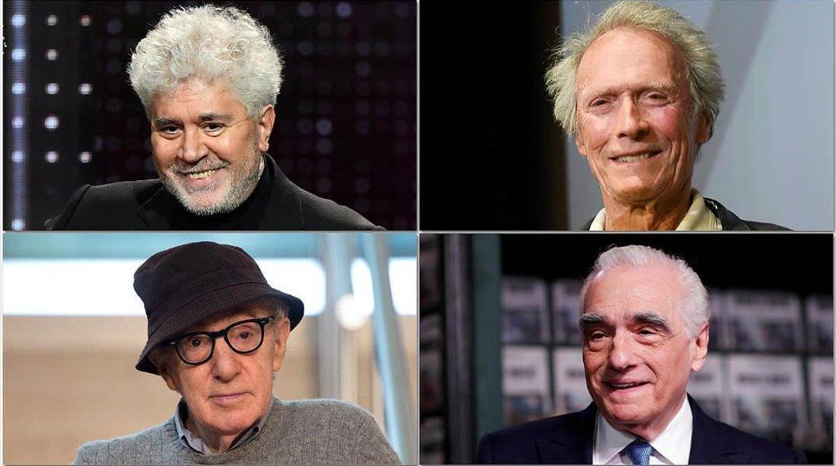 Pedro Almodóvar, Clint Eastwood, Woody Allen y Martin Scorsese, 4 de los más de 60 directores incluidos en el hilo.