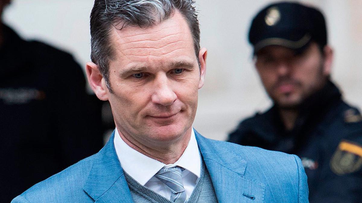 Iñaki Urdangarin, tras declarar ante el juez en Palma.
