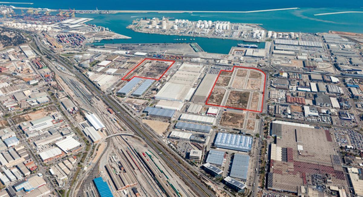 Terrenos de la plataforma BZ para la instalación de naves de distintos tamaños.