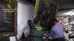 Operación de la Guardia Civil que se ha saldado con la recuperación de 474 obras de la colección del empresario Ignacio Muñoz Ramonet.