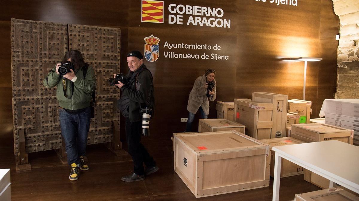 """Aragó denuncia l'estat """"lamentable"""" de les obres de Sijena"""