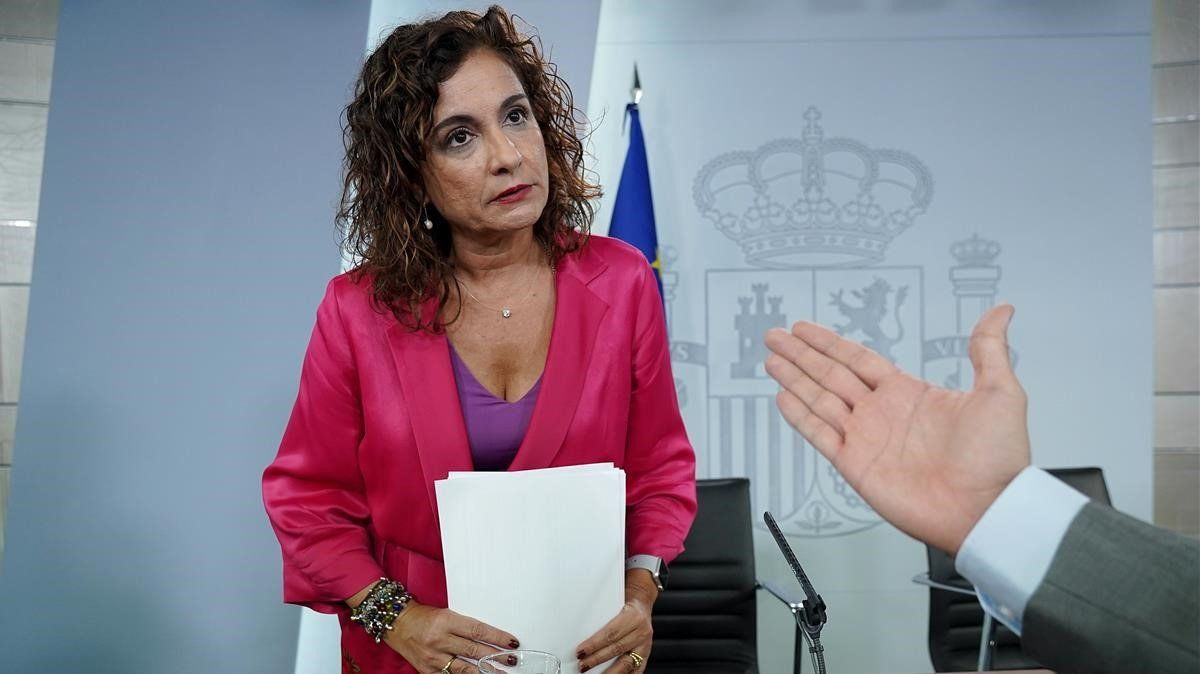 La ministra de Hacienda, Maria Jesús Montero, en una imagen de archivo.