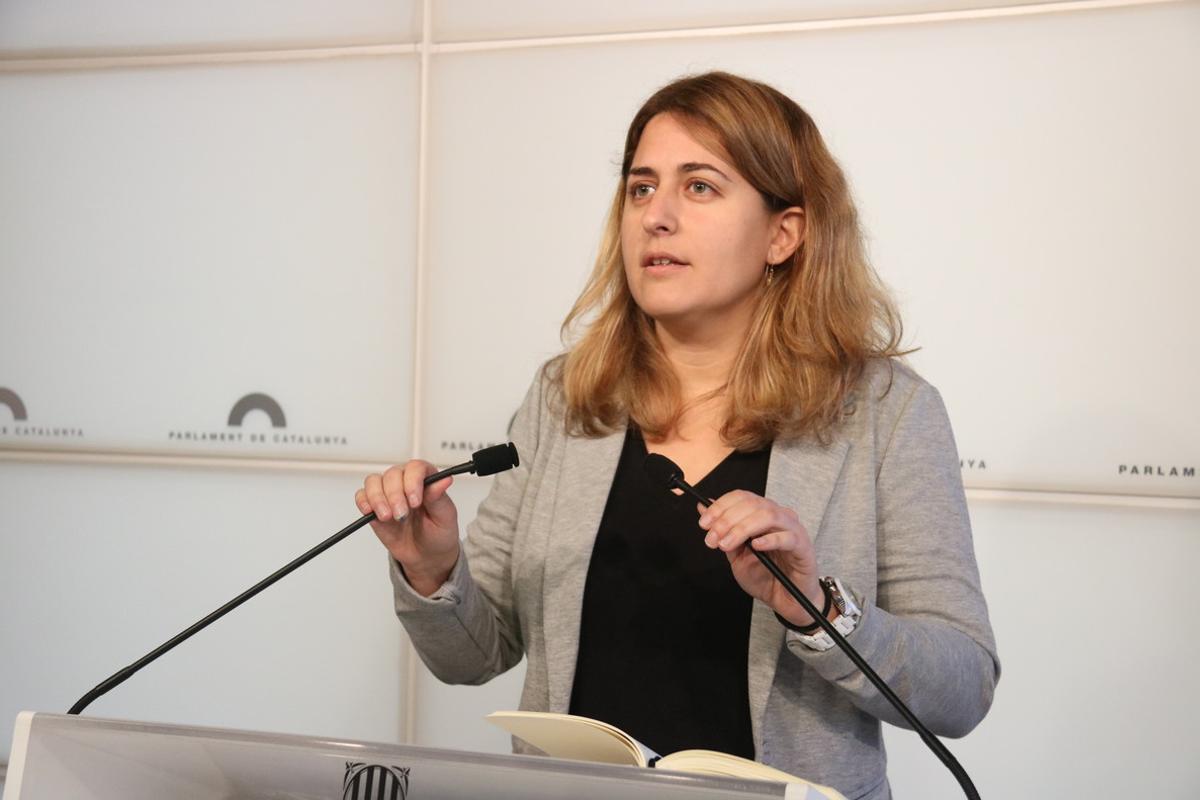 Marta Pascal, en una comparecencia en el Parlament.