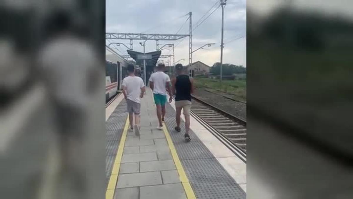 Tres jóvenes sin billete agreden a un revisor e un tren en Flaçà