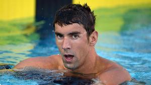 Michael Phelps, decebutdesprés definalitzar setè en els 100 metres estil lliure dels Campionats de natació dels Estats Units.