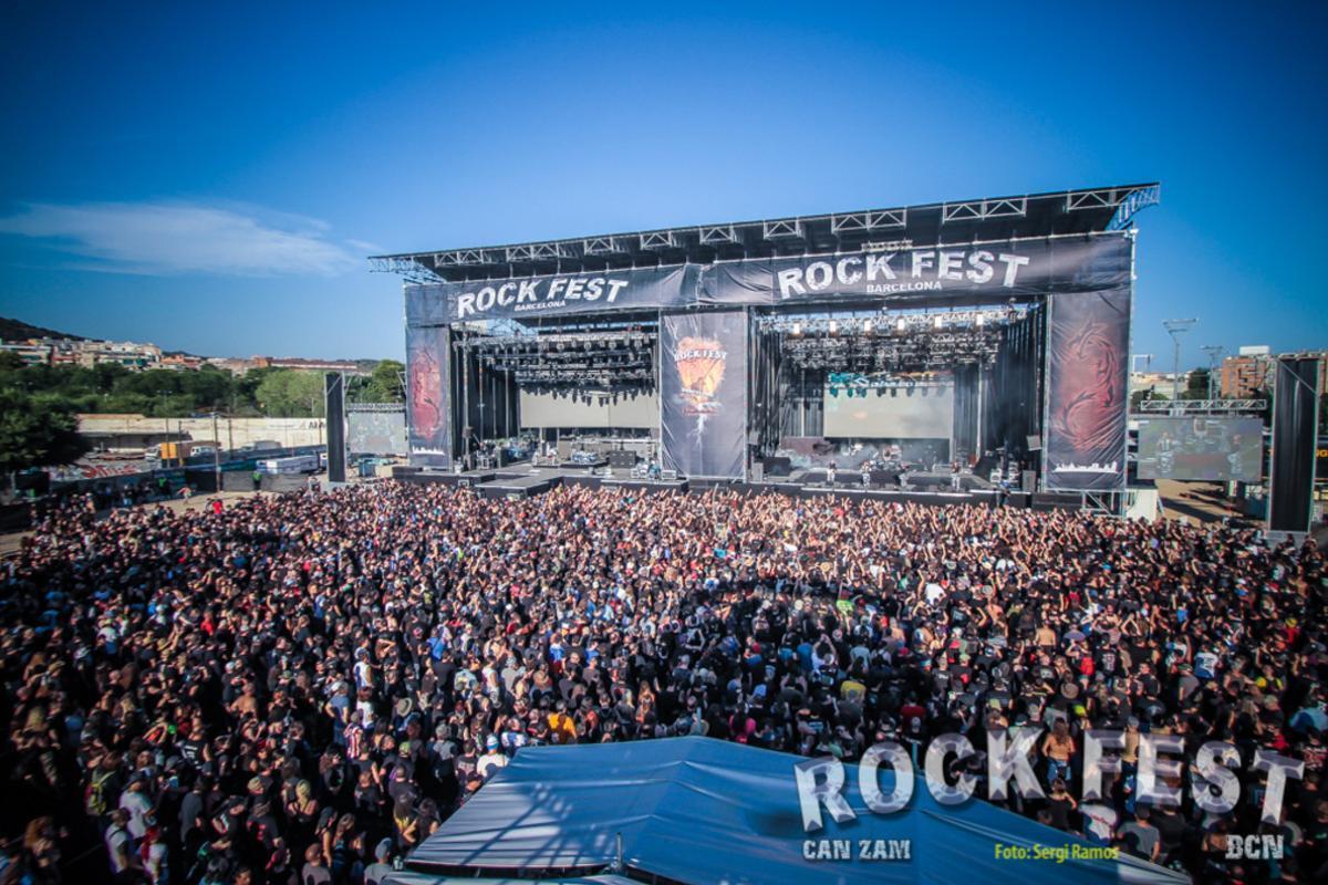 Imagen de archivo del escenario del Rock Fest en el parque Can Zam de Santa Coloma.