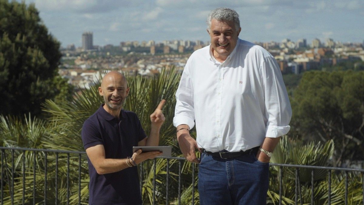 Antonio Lobato con Fernando Romay, en 'Desafía tu mente'.