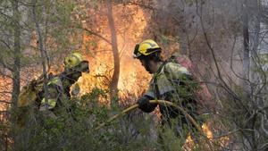 Una actuación de los bomberos de la Generalitat