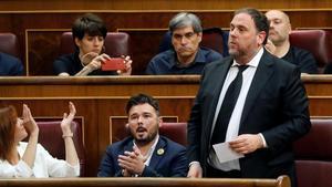 Oriol Junqueras promete acatamiento a la Constitución por imperativo legal, el pasado día 21 de mayo.