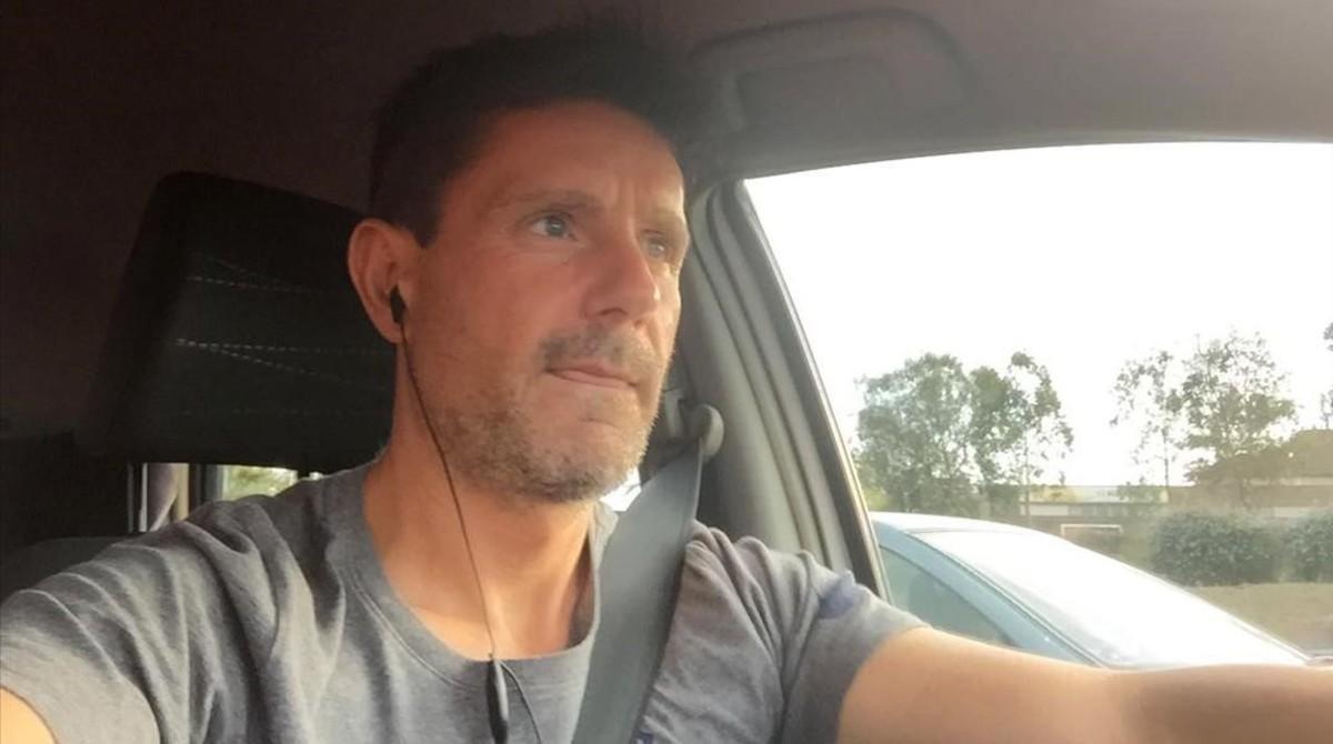 Francisco Gómez Manzanares en un 'selfie' que mandó a una de sus víctimas mientras conducía.