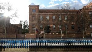 Fachada la residencia de ancianos de Madrid La Paz, la primera donde se confirmaroncontagios.
