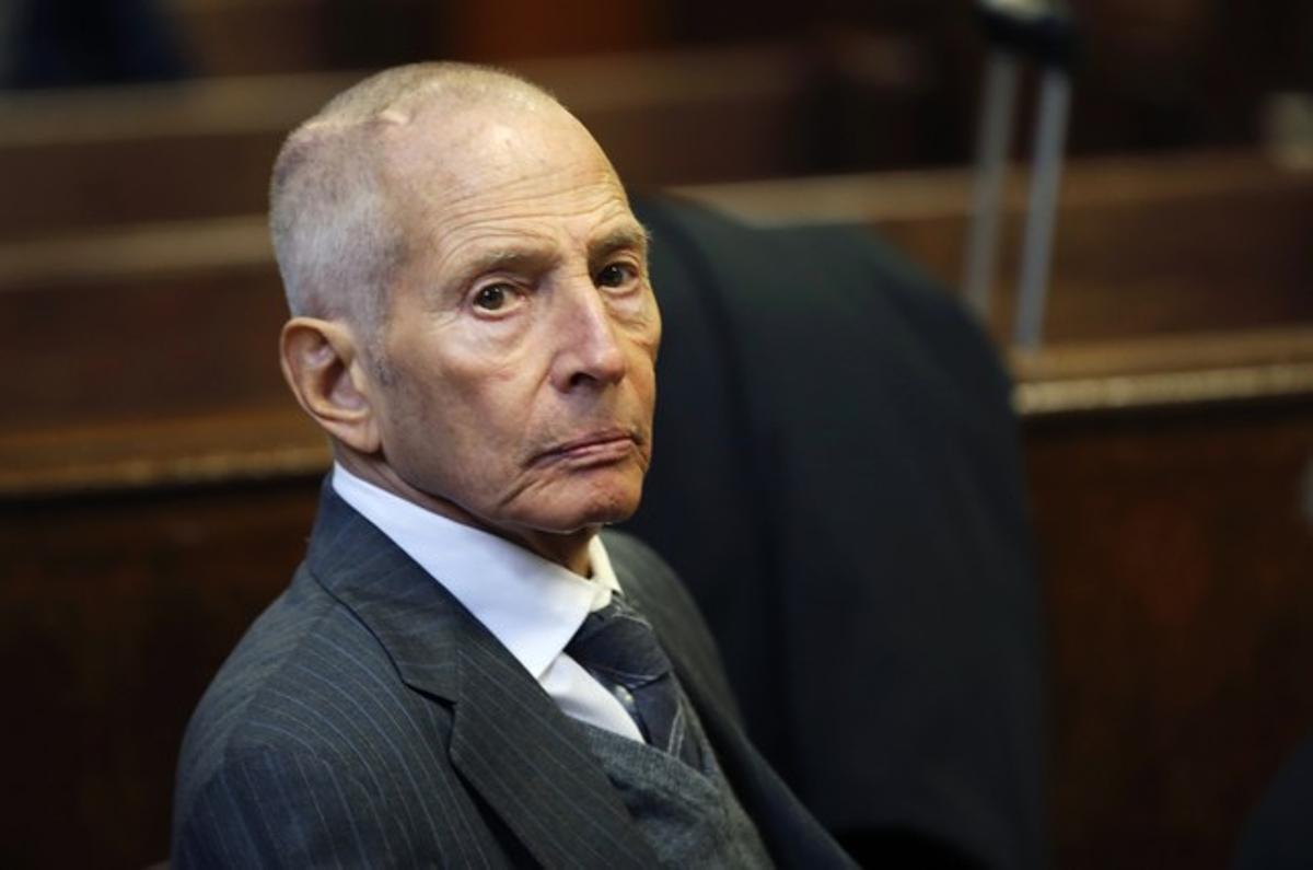 Robert Durst, en diciembre del 2014, cuando compareció ante la justicia de Nueva York por traspasar una propiedad privada.