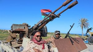 Fuerzas militares desplegadas en Trípoli.