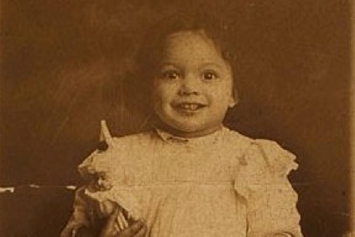 La activista, en la primera crianza.