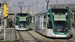 BARCELONA 15 12 2020  TRAM es el nom comercial del tramvia de Barcelona  i que fa servei dins de l  Area Metropolitana de Barcelona  conformat per sis linies en dues xarxes   Fotografia de JOAN CORTADELLAS