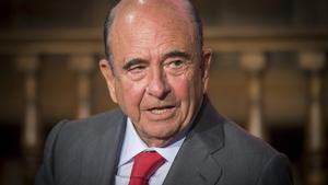 Emilio Botín, en la junta de accionistas de la entidad, el pasado 16 de mayo en Madrid.