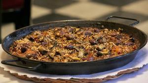 El arroz picante con conejo del restaurante 7 Portes.