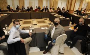 Chefs y empresarios de la restauración de Barcelona, reunidos en el Majestic.
