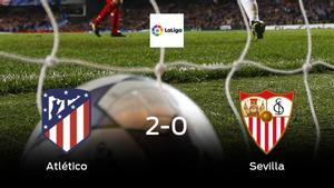 El Atlético de Madrid gana en casa al Sevilla por 2-0