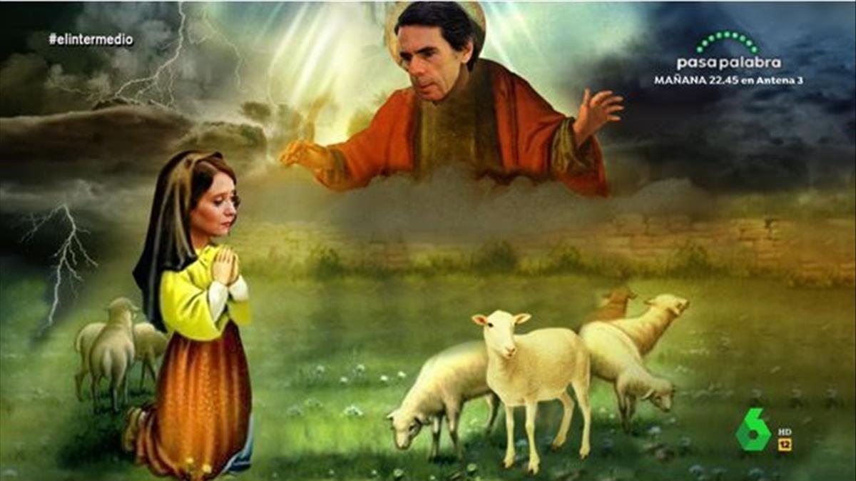 Paràbola d'Aznar a la pastoreta Ayuso