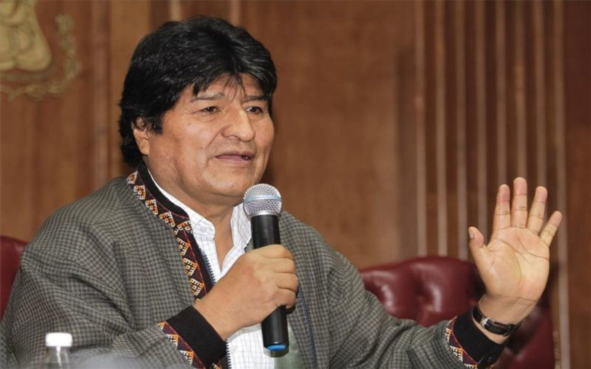 El expresidente de Bolivia, Evo Morales, durante su asilo en México.