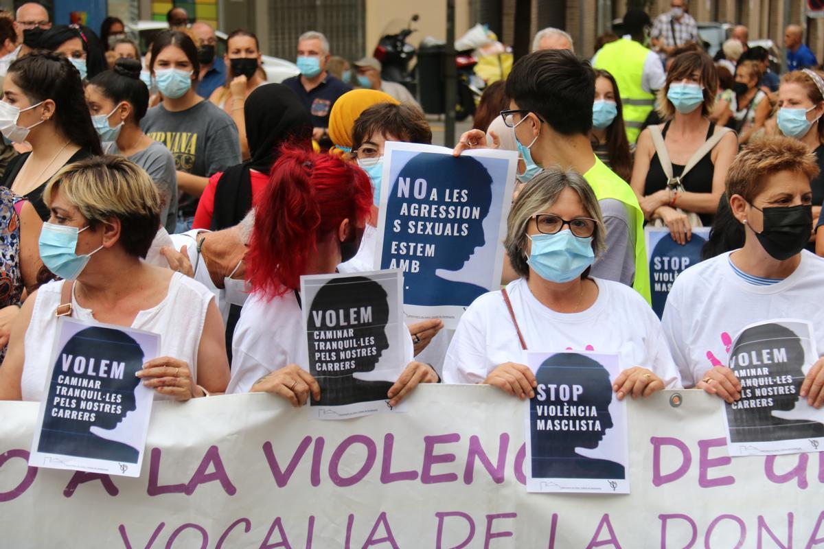 Manifestación vecinal en Mataró.