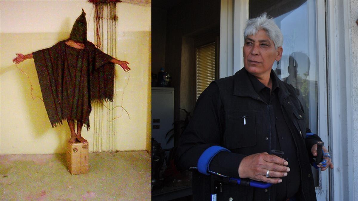 Ali al-Qaisi en Abú Gharib y en su casa de Berlín.