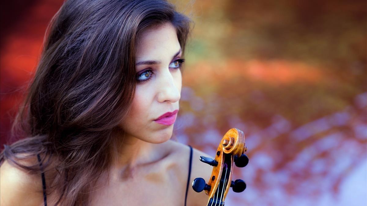 La violinista Leticia Moreno.