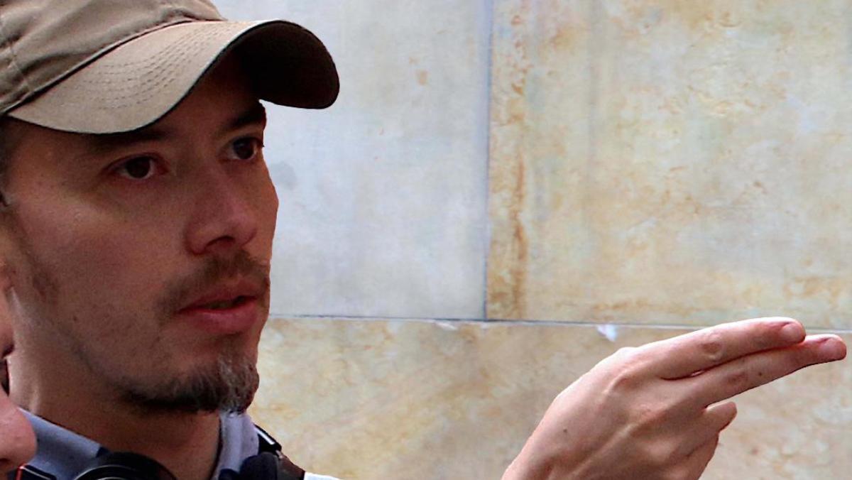 El director de 'Salvador', César Heredia Cruz, durante el rodaje.