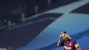 Leo Messi pierde la paciencia en Lisboa.