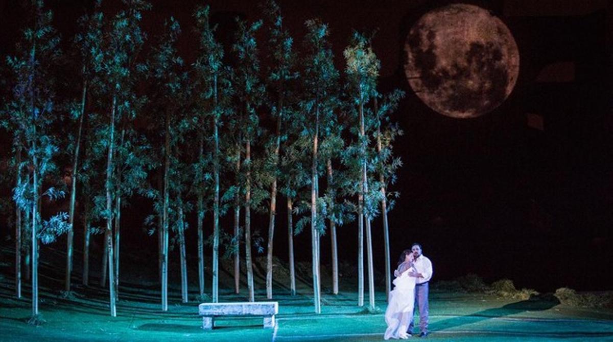 Un momento de la representación de 'Madama Butterfly' en Roma.