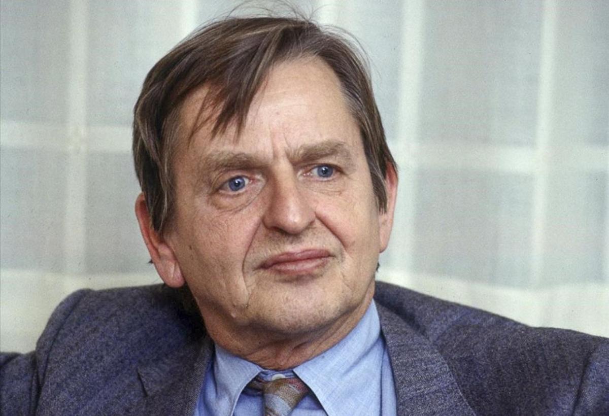 Olof Palme, primer ministro sueco asesinado en plena calle en 1986, en una imagen de archivo.