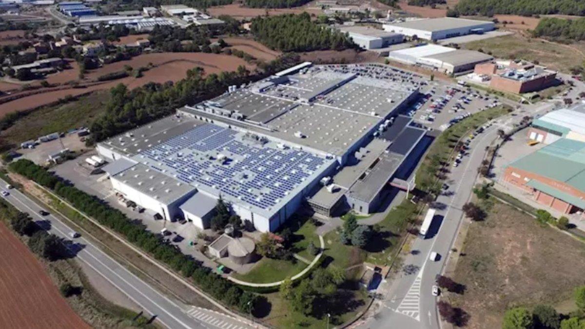 Vista aérea de la fábrica de Denso en Sant Fruitós del Bages.
