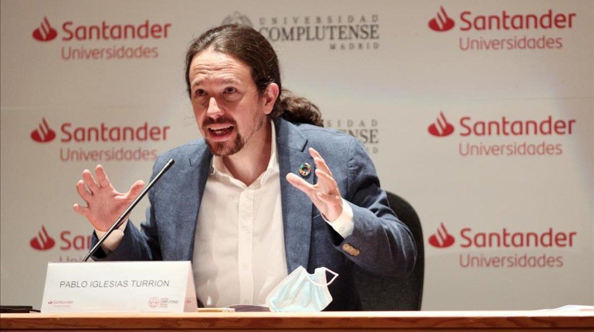 El líder de Unidas Podemos y vicepresidente segundo del Gobierno, Pablo Iglesias