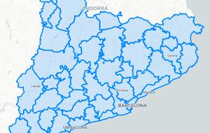 Mapa de les comarques de Catalunya: ¿On puc anar amb el confinament comarcal?