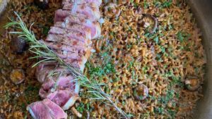 Arroz de entrecot ecológico del restaurante Green Leka Can Valldaura.