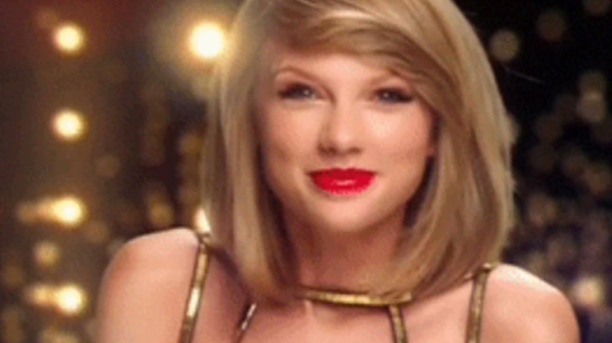 Esta imagen de Taylor Swift se usa para aceptar con entusiasmo.