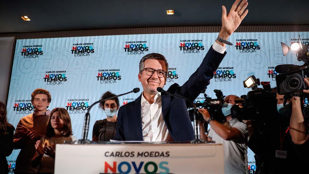 Carlos Moedas, líder de la coalición 'Novos Tempos Lisboa', se ha convertido contra todo pronóstico en el nuevo alcalde de Lisboa.