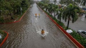 Inundaciones por las fuertes lluvias en Filipinas.