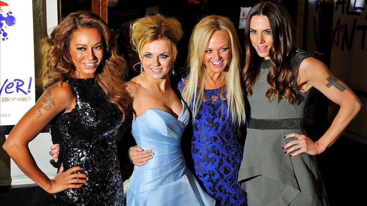 Las Spice Girls Melanie Brown, Geri Halliwell, Emma Bunton y Melanie Chisholm.