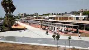 La nueva zona comercial del Port de Mataró.