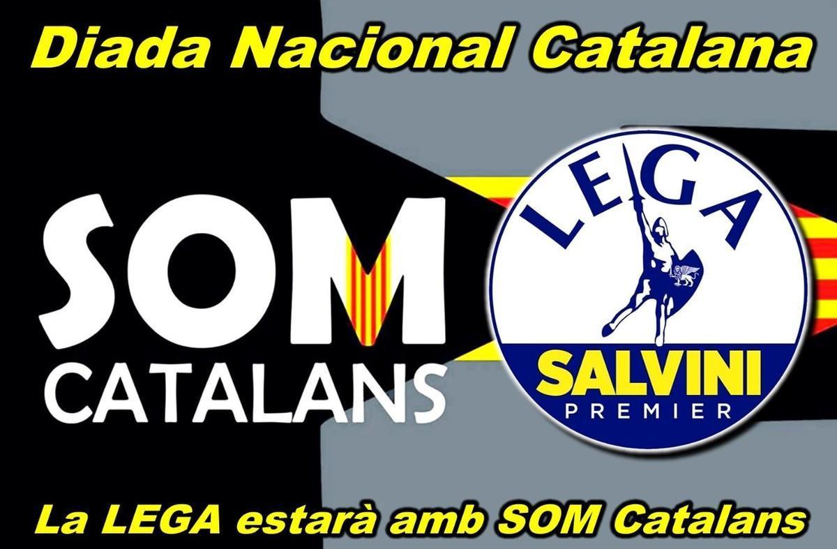 El cartel de la ofrenda floral de la Diada de 'Som Catalans'.