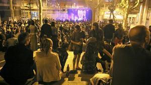 Concierto de Ràbia Positiva, en las fiestas del vigésimo aniversario de la ocupación de Can Vies.