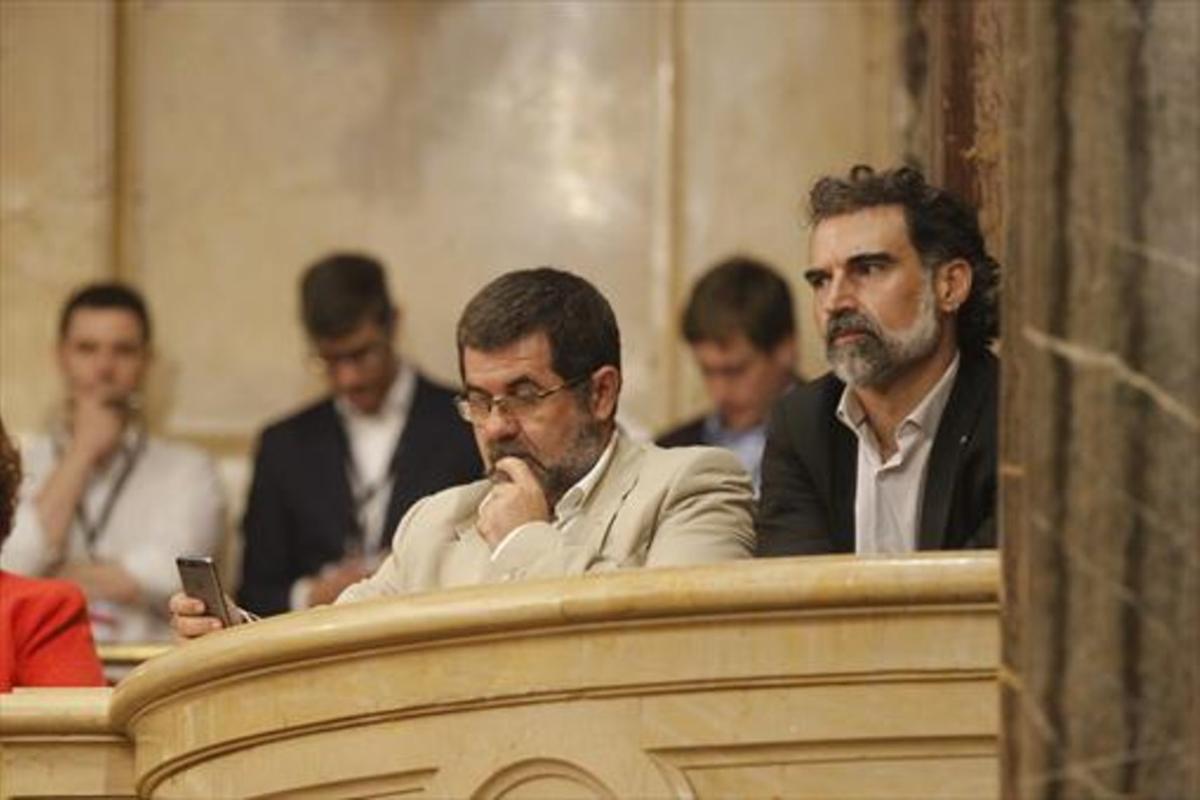 Jordi Sànchez (ANC) y Jordi Cuixart(Òmnium).
