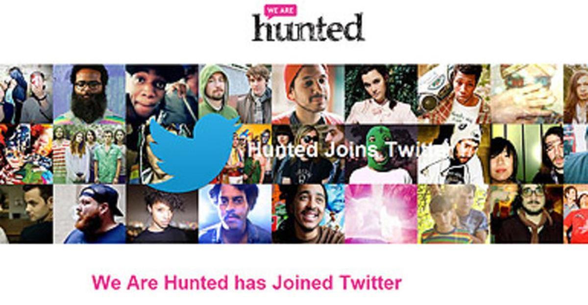 Captura de la web de We are hunted en la que anuncia su unión con Twitter