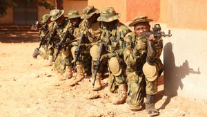 Soldados nigerianos.
