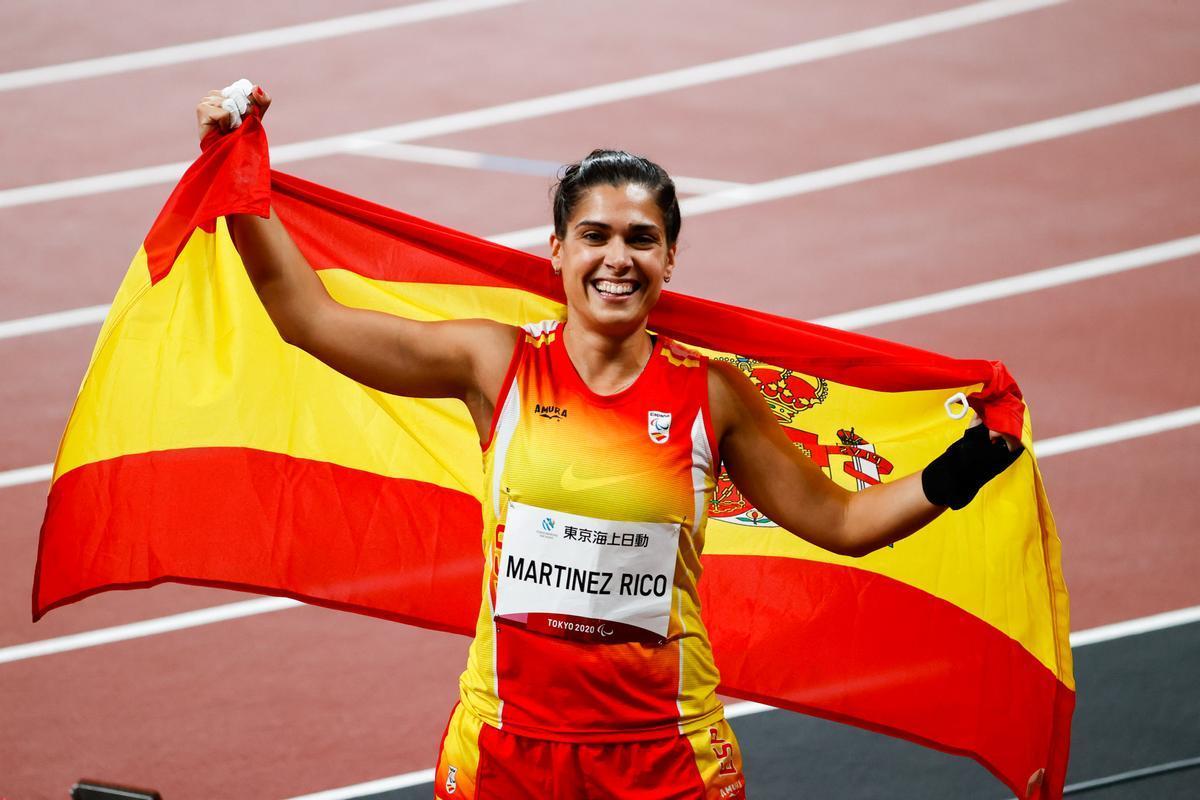 La valenciana Miriam Martínez, hoy tras conseguir la plata en lanzamiento de peso.