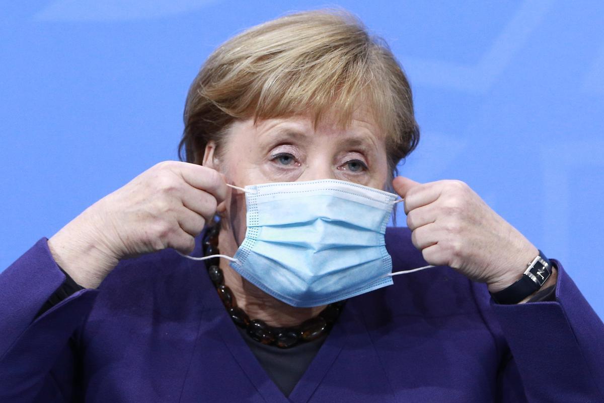 Merkel augura un confinamiento estricto hasta principios de abril