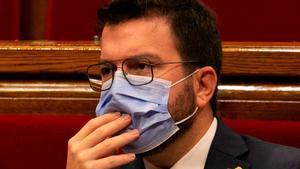 Pere Aragonès en el Parlament.
